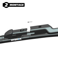 HYBROX FRONT Scheibenwischer für Alpina - XD4 (2018-2021)